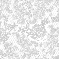 Lunch Servietten Lace Royal embossed