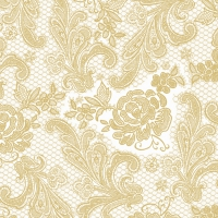 Lunch Servietten Lace Royal pearl gold