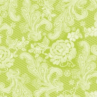 Lunch Servietten Lace Royal lime white