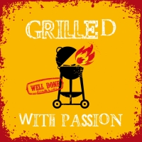 Lunch Servietten Grilled Withe Passion orange