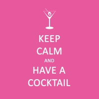 Cocktail Servietten Keep Calm... Cocktail pink *