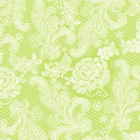 Lunch Servietten Lace Royal pastel lime white