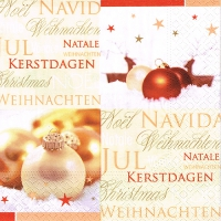 20 Servietten 33x33 cm - Season´s Greetings