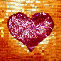 20 Servietten 33x33 cm - Sequin Heart