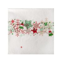 20 napkins 25x25 cm - Garland Red and Green