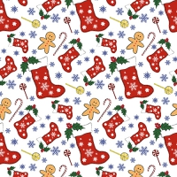 20 Servietten 33x33 cm - Christmas Socks