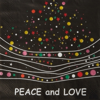 20 Servietten 33x33 cm - Peace and Love