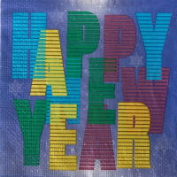 20 Servietten 33x33 cm - Colourful Happy New Year