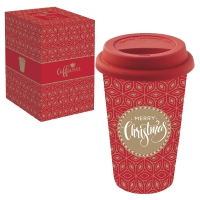 Porzellan Mug To-Go 350ml - MERRY CHRISTMAS