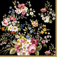 Servietten 33x33 cm - BLOOMING OPULENCE BLACK