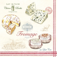 Napkins 33x33 cm - Fromage