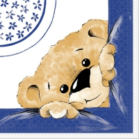 Tissue Lunch Servietten TEDDY blau