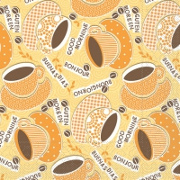Tissue Lunch Servietten KAFFEE OLE gelb / orange