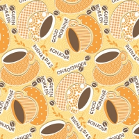 Linclass Dinner Napkins - KAFFEE OLE gelb / orange