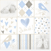Tissue Lunch Servietten BABY blau