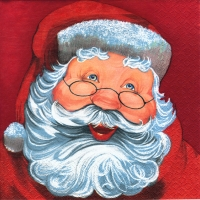 Servietten 25x25 cm - Father Christmas red