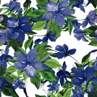 Servietten 25x25 cm - Flowering Clematis blue
