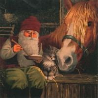Servietten 33x33 cm - Nisse with Horse