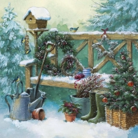 Servietten 33x33 cm - Winter Gardening