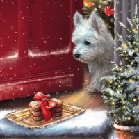 Servietten 33x33 cm - Delicious Westie Treats