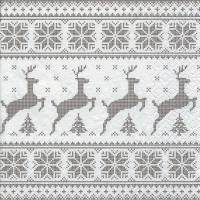 Servietten 33x33 cm - Deers with Trees taupe