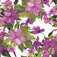 Lunch Servietten Flowering Clematis pink