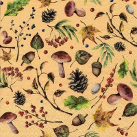 Servietten 33x33 cm - Autumn Forest honey