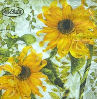 Lunch Servietten Girasoles Amarillos green