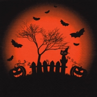 Servietten 33x33 cm - Happy Halloween Trick