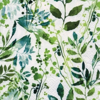Servietten 33x33 cm - Boho Leaves & Herbs green