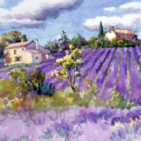 Lunch Servietten Lavander Fields Forever