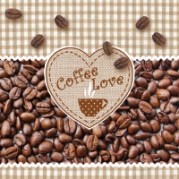 Servietten 33x33 cm - Coffee Love
