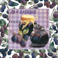 Lunch Servietten Jam of Blackberries
