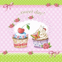 Servietten 33x33 cm - Sweet Day