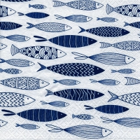 Servietten 33x33 cm - Shoal of Blue Fish