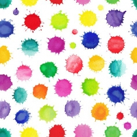 Servietten 33x33 cm - Colourful Splashes