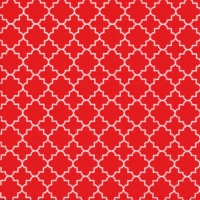 Lunch Servietten Quattrefoil Lattice red