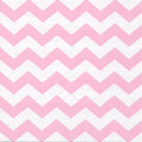 Servietten 33x33 cm - Chevron light pink