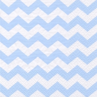 Servietten 33x33 cm - Chevron light blue