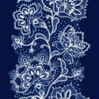 Servietten 33x33 cm - White Lace navy