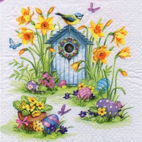 Servietten 33x33 cm - Birdhouse & Easter Eggs
