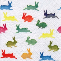 Servietten 33x33 cm - Colorful Rabbits