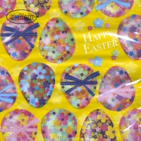Servietten 33x33 cm - Multicoloured Easter Eggs