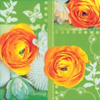 Lunch Servietten Easterly Buttercup Collage green
