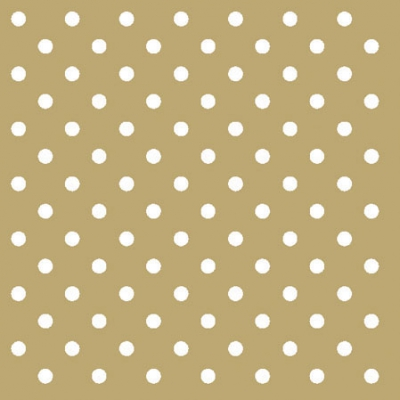 Cocktail Servietten Dots Gold