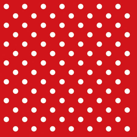 Cocktail Servietten DOTS RED