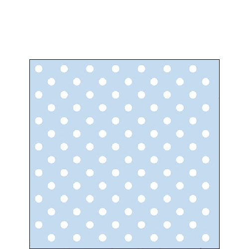 Cocktail Servietten PASTEL DOTS BLUE