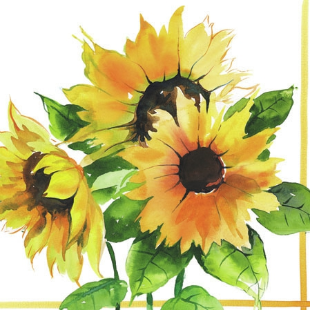 20 Servietten - 25 x 25 cm GIRASOLI,  Everyday,  cocktail servietten