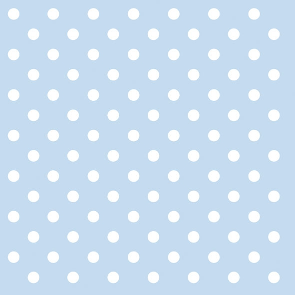 20 Servietten - 33 x 33 cm PASTEL DOTS BLUE,  Sonstiges - Muster,  Everyday,  lunchservietten