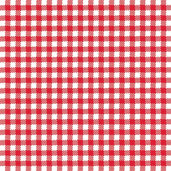 20 Servietten - 33 x 33 cm VICHY SMALL RED,  Sonstiges - Muster,  Everyday,  lunchservietten